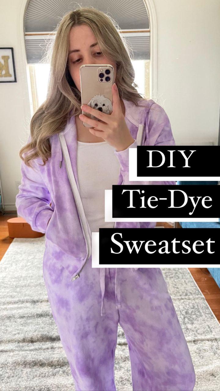 DIY Tie-Dye Sweatset
